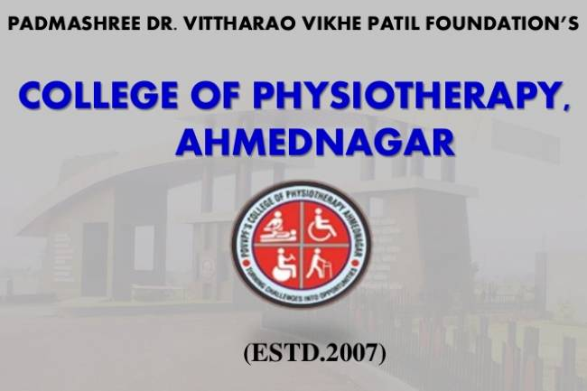 Vithalrao Vikhe Patil  college of Physiotherapy  Ahmednagar: Admission-Fees Structure-Cutoff. Call us @ 9326025948
