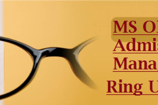 Direct MS Ophthalmology Admission In India Through Management Quota. Call us @ 9987666354
