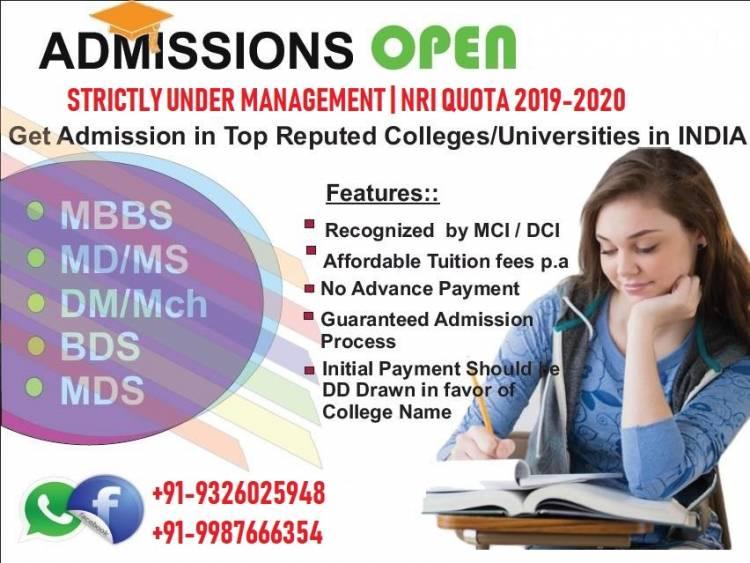 Direct Admission in MD MS through Management quota seats. Call us @9987666354